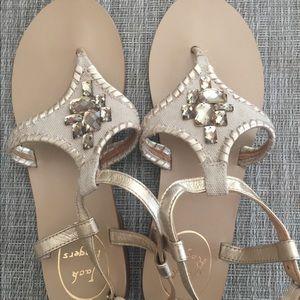 Gold/Tan Jack Rogers Sandals
